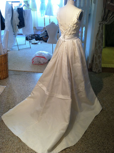 Anne's Completed Re-Constructed Wedding Dress