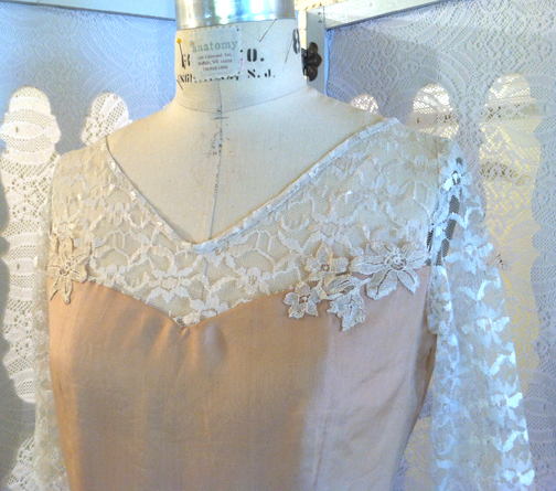 Combining the past with today: reconstructed wedding dress
