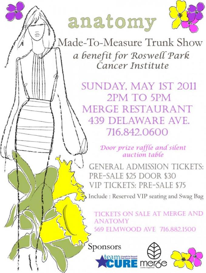the anatomy made-to-measure trunk show for Roswell Park