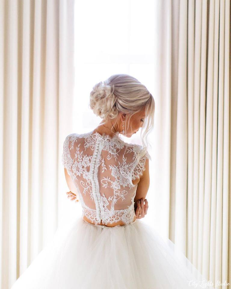 Ashley's Delicate Custom Lace Wedding Top