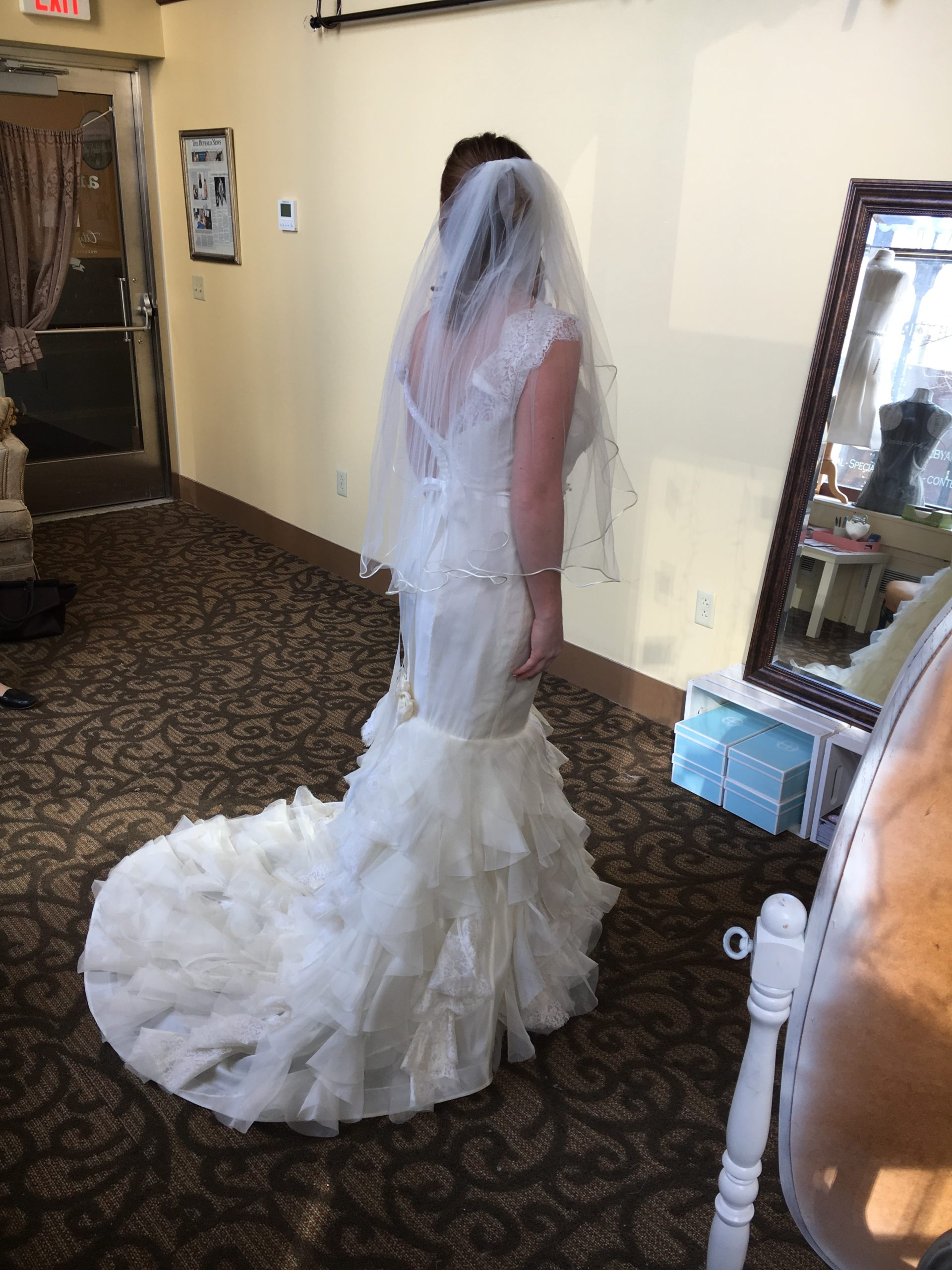 Amanda's Vintage Organza Mermaid Wedding Dress Reconstruction