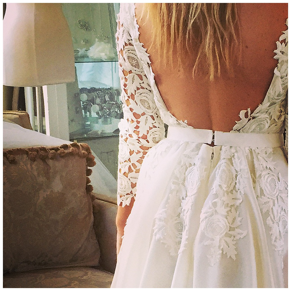 Ashley's Custom Bodysuit Wedding Dress