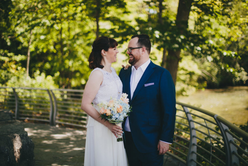Erin's Custom Feminine Edgy Wedding Dress