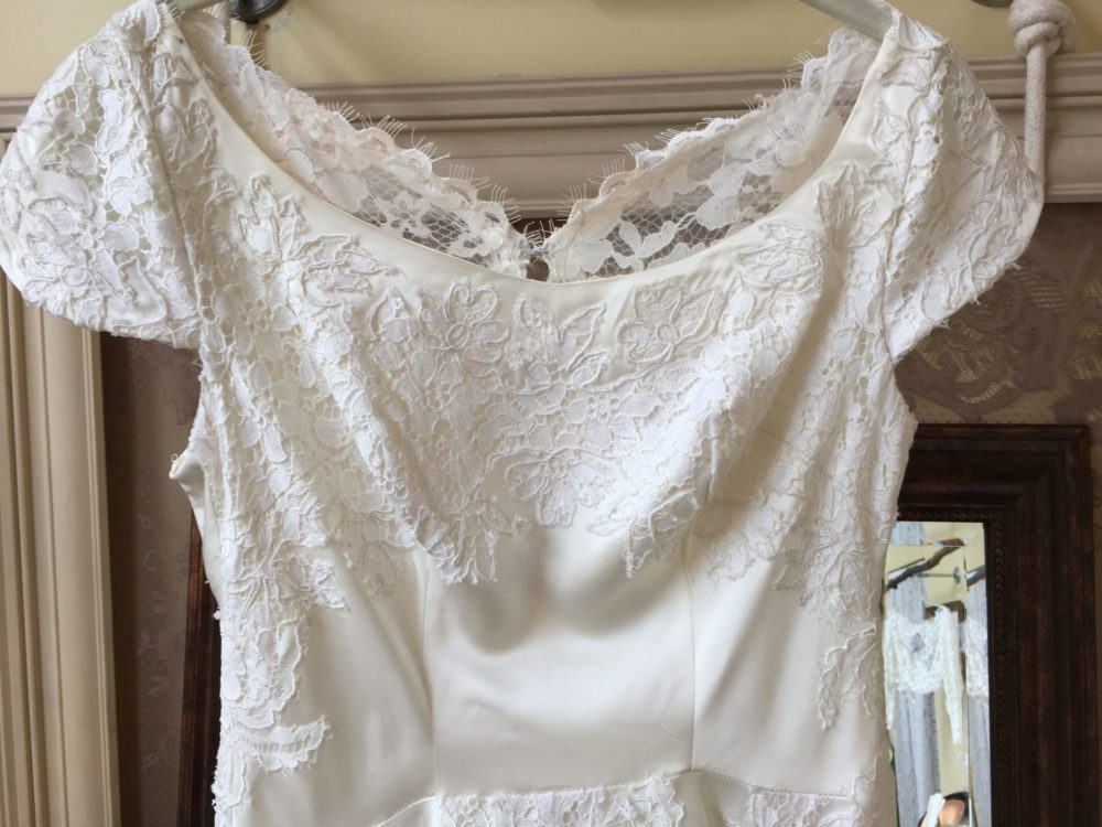 Colleen's Dramatic Vintage Lace Heirloom Dress Reconstruction