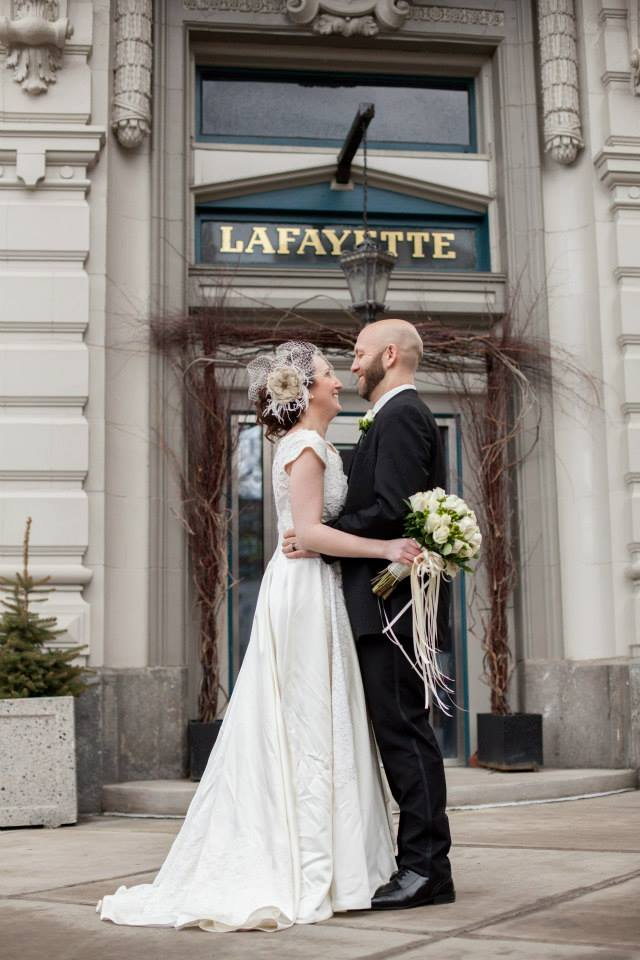 Colleen's Heirloom Lace Wedding Gown Reconstruction