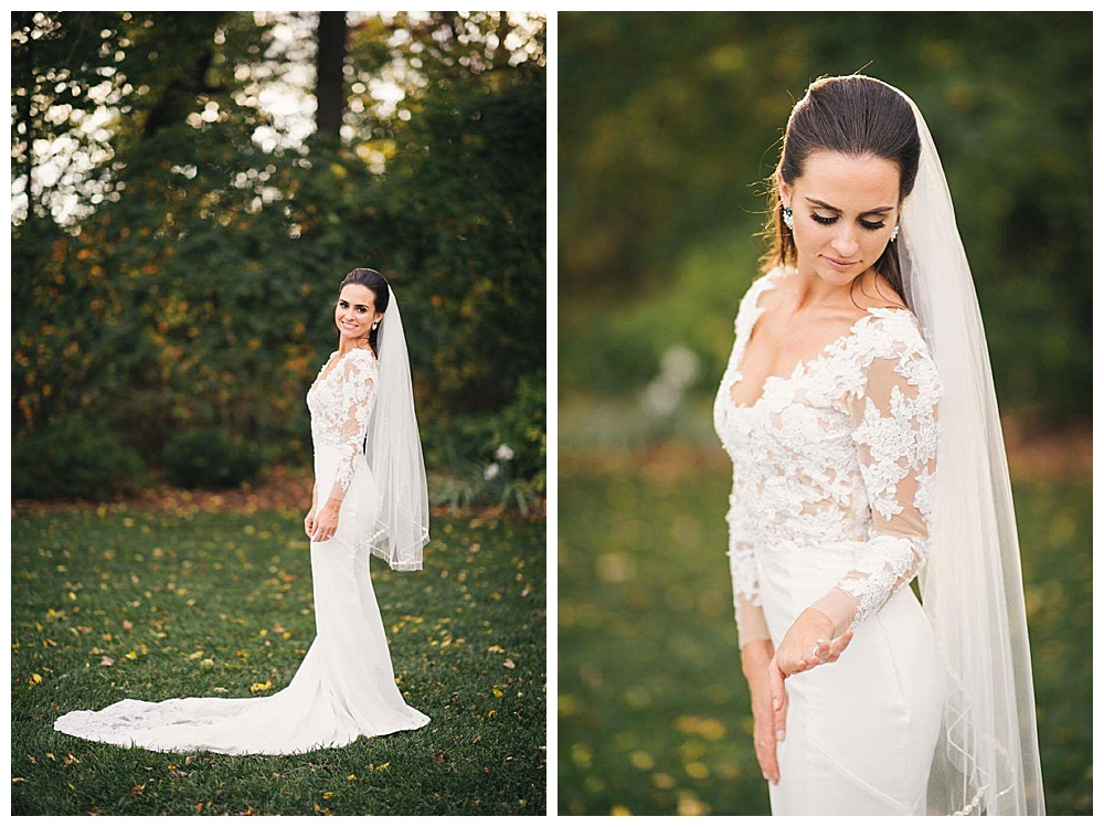 Jordan's Handmade Long Sleeve Lace Wedding Gown