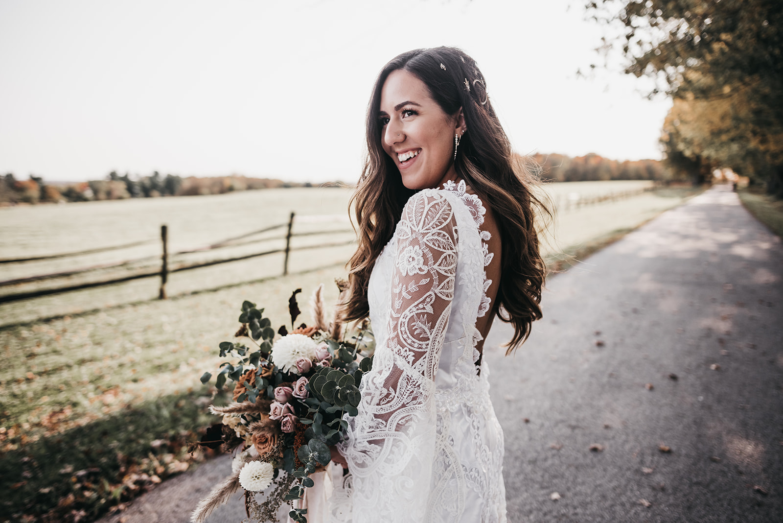 Kassie's Lace Bell Sleeve Wedding Dress Transformation